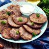 оладьи из свиной печени с манкой
