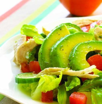 Легкий салат без майонеза