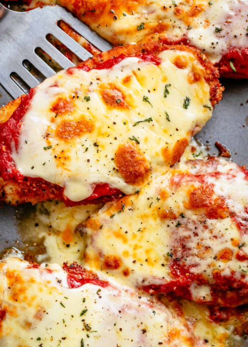 куриная грудка с картофелем, помидорами и сыром