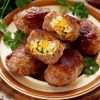 Мясные зразы с яйцом в духовке